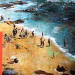 Seashore /tech mixte sur toile 92x76cm