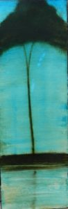 Silhouette N°5 /huile sur toile 30x90 cm