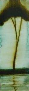 Silhouette N°17 /huile sur toile 30x90 cm
