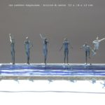 Six petites nageuses /bronze et verre