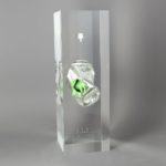 Spray vert /cristal de synthèse 30x10x10cm