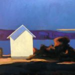 The blue shadow /huile sur toile 38x46cm