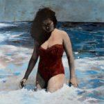 The waves /photo et huile sur toile 61x61cm