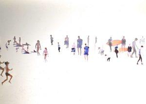 Wissant couleur /photo impression sur plexiglas 20x45cm