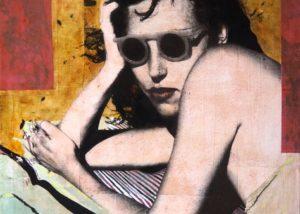 Women with glasses /tech mixte sur toile 81x65cm