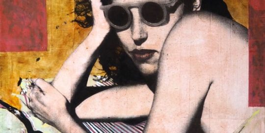 Women with glasses /tech mixte sur toile 81x65cm